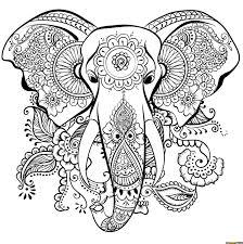 Elephant Mandala Coloring Pages Animals 100 Mandalas Zen Anti Stress