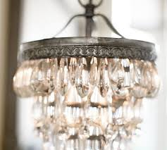 clarissa crystal drop small round chandelier pottery barn