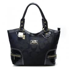 Coach Zip In Monogram Medium Black Satchels BXZ