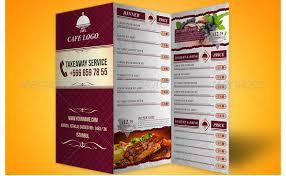 26 Great Tri Fold Restaurant Menu Psd Templates Design
