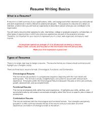 Resume Functional Resume Example
