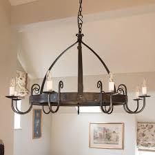 mitre 9 light wrought iron chandelier