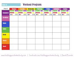 21 Day Fix Meal Chart Plan B 21 Day Fix Meal Planning Template 1500 1799 Calorie