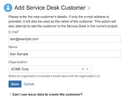 Define Customer Service Create Customers And Add Jira Service Desk Requests