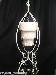 cake hanger stand upside down chandelier style cake plate kit