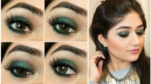 green smoky eye makeup tutorial clista