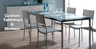 we can build custom glass table tops shelves