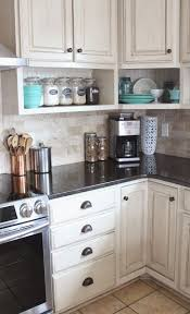 under kitchen cabinet shelf awesome raised wall cabinets with shelves built underneath namely original