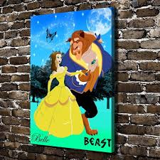 a879 beauty and the beast children s cartoon hd canvas print home decoration living room