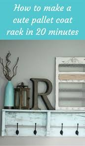How To Build A Coat Rack Shelf Inspiration How To Make A Cute Pallet Coat Rack In 32 Minutes DIY Crafts