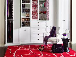 reach in closet design. Modern Reach In Closet Design With Padded Chair Round Table On Patterned Rug 6