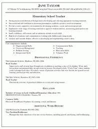 Elementary School Teacher Resume With Core Competencies resume example