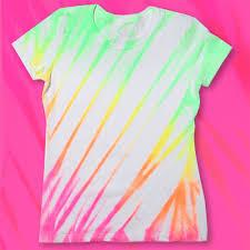 neon fabric spray paint shirt diy tutorial