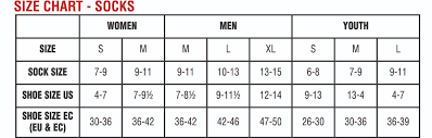 Men S Socks Sizing Chart Image Sock And Collections