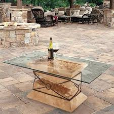 glass patio table patio table on pedestal how to replace glass patio tabletop with tile