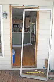 Backyards How Replace Exterior Door Part To Install Frame Diy An