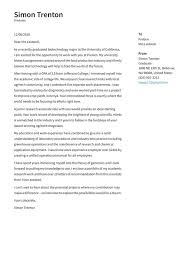 graduate cover letter exles expert