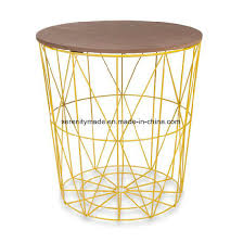 china home goods basket wire wooden top