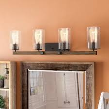 rustic bathroom vanity lights. Plain Vanity Richard 4Light Vanity Light By Union Rustic Throughout Bathroom Lights L