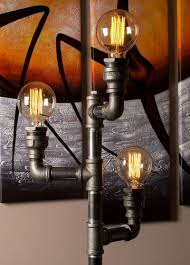 steampunk lighting. Pipe Light Modern Floor Lamps For Steampunk Lighting. Industrial Lamp Fixtures Lighting