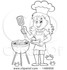 cooking clipart black and white. Perfect Clipart Cooking Clipart Black And White On