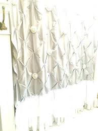 shower curtain white ruffle curtains whi