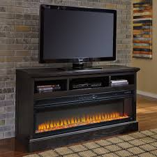 ashley furniture fireplace tv stand. Unique Stand Ashley Furniture Sharlowe LG TV Stand With Fireplace In Charcoal Throughout Tv Local Outlet