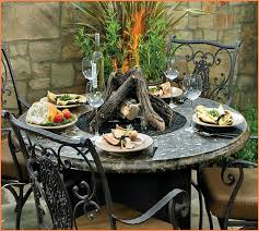 pit dining table outdoor dining tables with fire pits