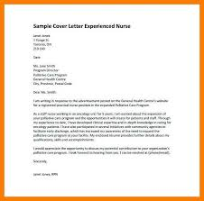 Sample Cover Letter For A Nurse 7 8 Experienced Nursing Cover Letter Tablethreeten Com