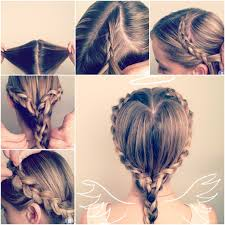 how to make heart shaped braided hairstyle