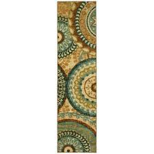 forest suzani multi 2 ft x 5 ft indoor runner rug