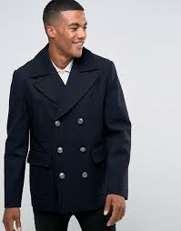 river island au river island peacoat men navy