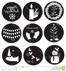 Best Black White Christmas Labels Eps File Free