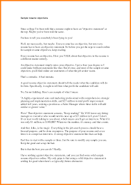 Resume Good Objective Statement Formatting Letter Objectives