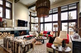 spacious mountain contemporary living room at deer valley luxury al stein eriksen residences modern dining