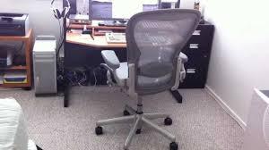 Herman Miller Aeron Chair Titanium color Review \u0026 Demo - YouTube