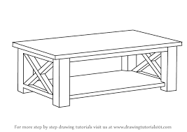 coffee table drawing. Unique Table How To Draw A Coffee Table With Drawing