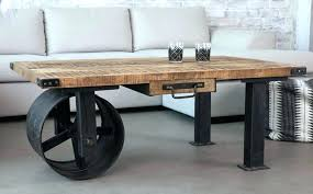 small industrial coffee table industrial coffee table brown rectangle wooden industrial style coffee table with unique