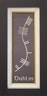irish gift solutions ogham slate plaque framed