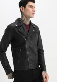 produkt justice faux leather jacket black mens clothing jackets leather jackets va69887