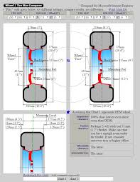 Offset And Backspacing Chart Backspacing To Bring Flush With Fenders Clublexus Lexus