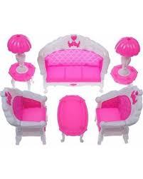 mini furniture sets. 6PCS Pink Mini Living Room Sofa Furniture Sets Toy For Dolls Dream House Accessories Kids