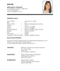 Resume Format Doc File Download Resume Work Template