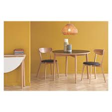 Round Kitchen Tables Uk Suki 2 4 Seat Black Folding Round Dining Table Buy Now At Habitat Uk