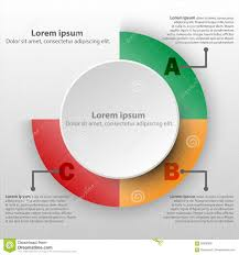 Chart Poster Design 3d Paper Circle With Colorful Percentage Level Pie Chart For