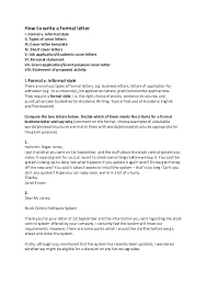 Pdf How To Write A Formal Letter Gerson Antonio