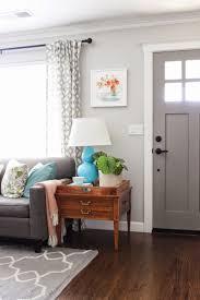 Yellow Brown Living Room Living Room White Pendant Lights Gray Sofa Gray Rug White Futons