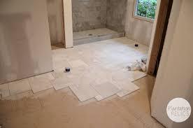Marble Flooring Bathroom Carrara Marble Master Bath Flip House Update