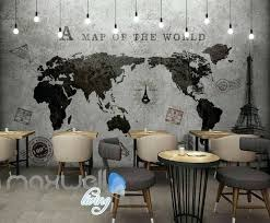 world map mural tap to expand paper wall world map mural image 0 for wall