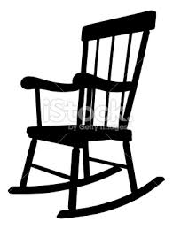 rocking chair clipart. Rocking Chair Silhouette Clipart A